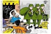 كاريكاتير يسخر من اللاجئين السوريين في المانيا !