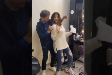"""فيديو II نانسي عجرم تثير ضجة بعد رقصها في كواليس """"ذا فويس كيدز"""""""